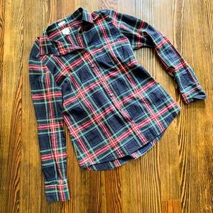 J. Crew tartan button down shirt